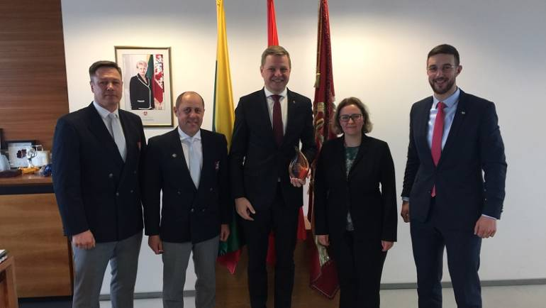 Federacijos valdybos narių vizitas pas Vilniaus merą.