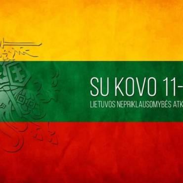 Lietuva, sveikiname su Nepriklausomybės diena